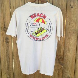 Vintage Single-stitch T shirt Neon FL Beach sz L